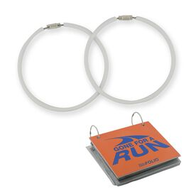 """BibFOLIO® Race Bib Album Expansion Rings (3"""" White Rings) - Set of 2"""