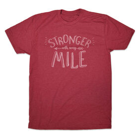 Men's Lifestyle Tee Stronger With Every Mile