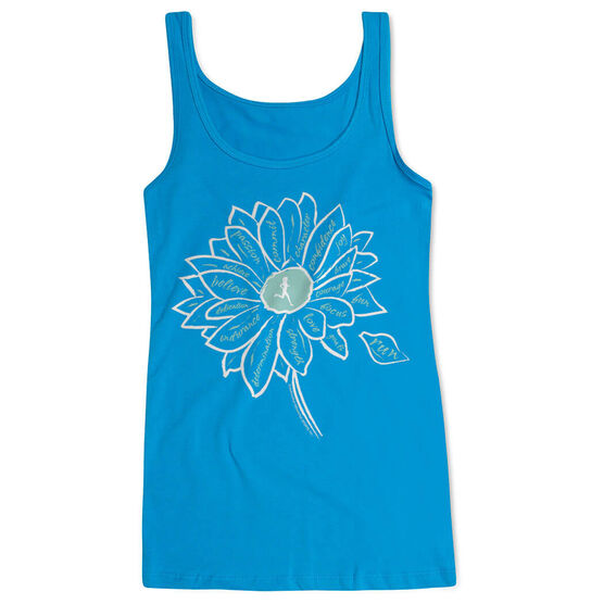 Women's Athletic Tank Top Inspiration Flower
