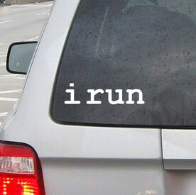 i run Vinyl RUNNERDecal