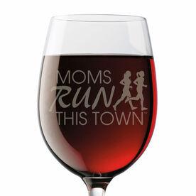 Running Wine Glass - Moms Run This Town