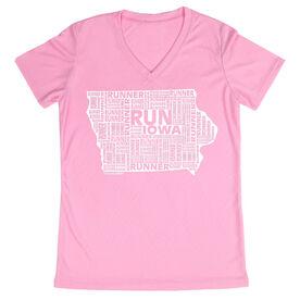 Women's Running Short Sleeve Tech Tee Iowa State Runner