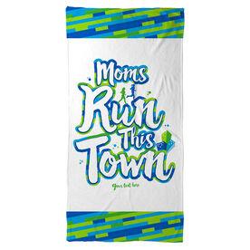 Running Beach Towel - Moms Run This Town Script