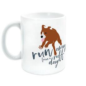 Running Ceramic Mug Run Away From a Ruff Day