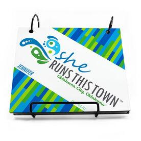 BibFOLIO® Race Bib Album - She Runs This Town Logo Block Pattern