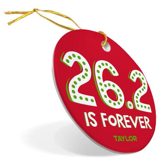 Running Porcelain Ornament 26.2 is Forever