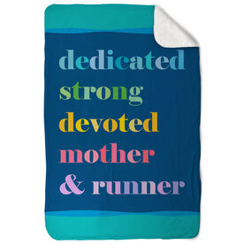 Running Sherpa Fleece Blanket - Mantra Mother Runner