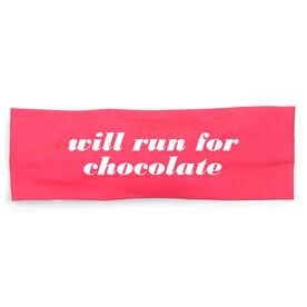 RunTechnology Tempo Performance Headband - Will Run For Chocolate