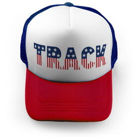 Track and Field Trucker Hat - Patriotic Track