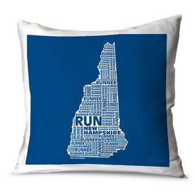 Running Throw Pillow New Hampshire State Runner