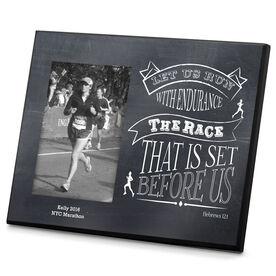 Running Photo Frame Chalkboard Let Us Run