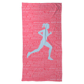 Running Beach Towel Inspiration Female