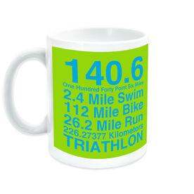 Triathlon Ceramic Mug 140.6 Math Miles