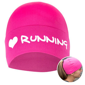 Performance Ponytail Cuff Hat I Heart Running