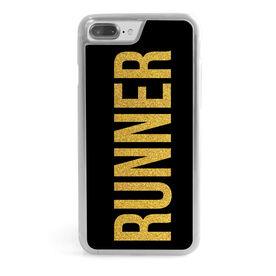Running iPhone® Case - Runner Faux Glitter