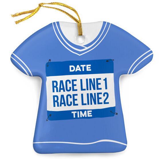 Running Porcelain Ornament Custom Date, Race, Time Shirt