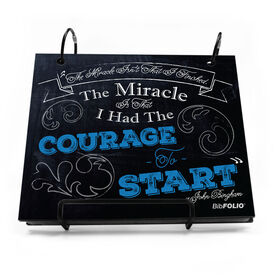 BibFOLIO® Race Bib Album - The Miracle Isn't That I Finished Chalkboard