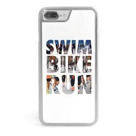 Triathlon iPhone® Case - Swim Bike Run Photo Words