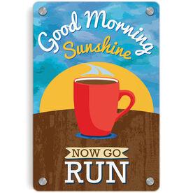 Running Metal Wall Art Panel - Good Morning Sunshine