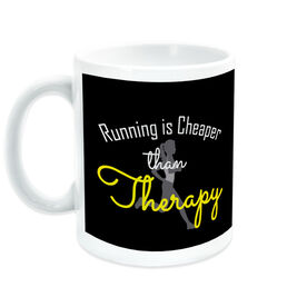 Running Ceramic Mug Running Is Cheaper Than Therapy (Script)