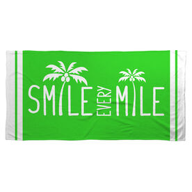Running Beach Towel Smile Every Mile