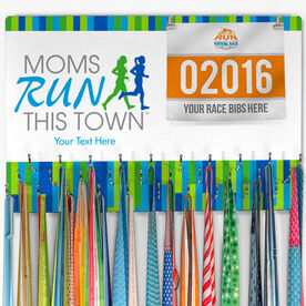 Hooked on Medals Bib & Medal Display - Moms Run This Town
