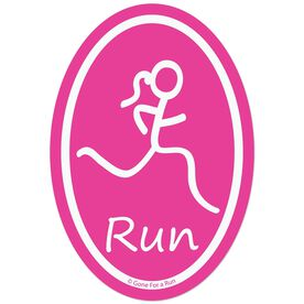 Run Girl Decal (Pink)