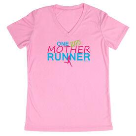 Women's Running Short Sleeve Tech Tee One Bad Mother Runner