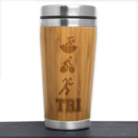 Bamboo Travel Tumbler Tri Swim Bike Run