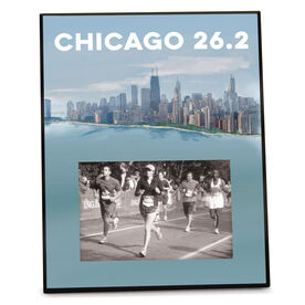 Running Photo Frame (Vertical) - Chicago Sketch