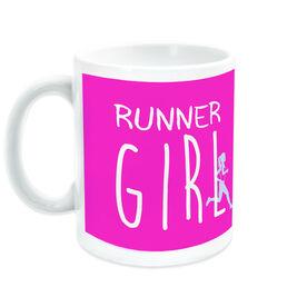 Running Ceramic Mug Runner Girl (Handwritten Font)