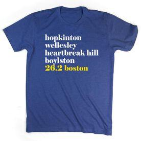 Men's Lifestyle Runners Tee - Run Mantra - Boston