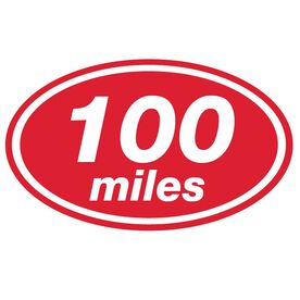 100 Miles Oval Running Vinyl Decal