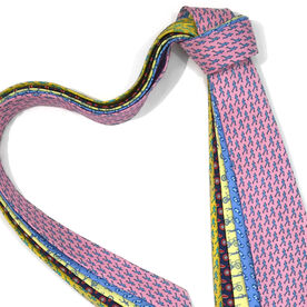 Runner Yellow Silk Tie