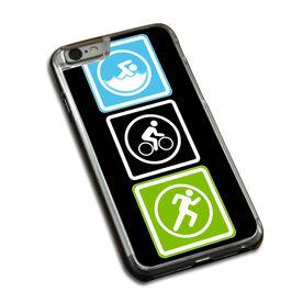 Triathlon iPhone® Case Swim Bike Run Blocks