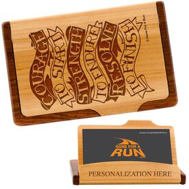 Courage to Start Tattoo Maple Business Card/Credit Card Holder