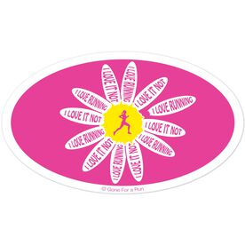 I Love Running, I Love It Not Car Magnet (Pink)