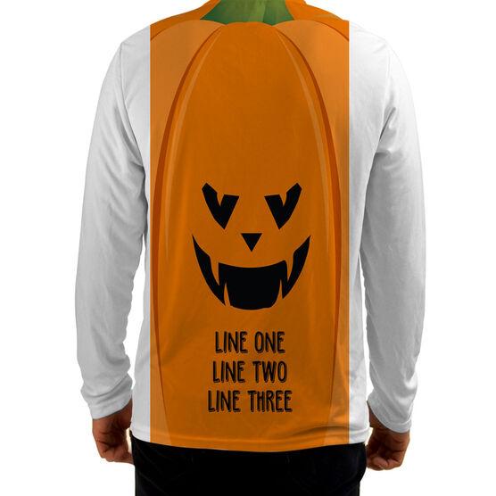 Men's Running Customized Long Sleeve Tech Tee Jack O' Lantern
