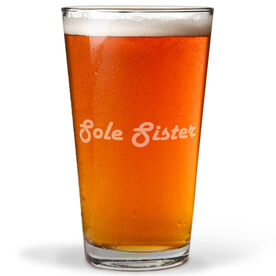 Running 20 oz Beer Pint Glass Sole Sister