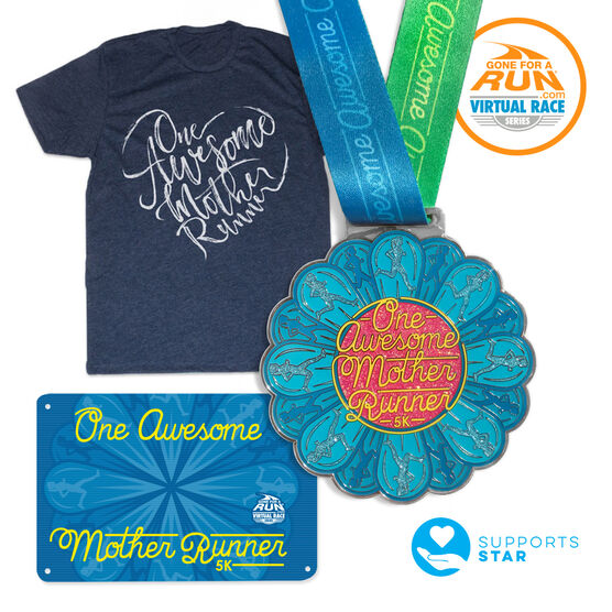 Virtual Race - One Awesome Mother Runner 5K Deluxe Package (Includes Tee!)