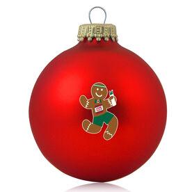 Running Glass Ornament Gingerbread Runner