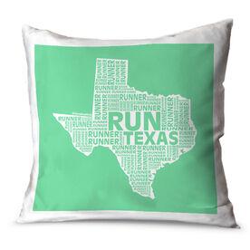 Running Throw Pillow Texas State Runner
