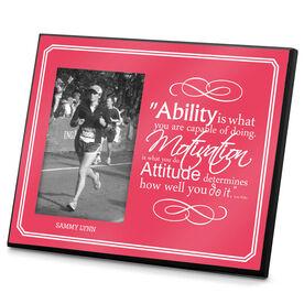 Running Photo Frame Ability Motivation & Attitude