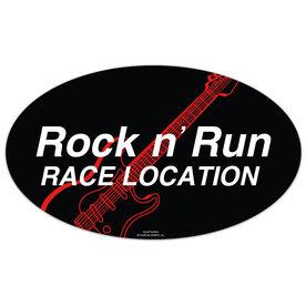 Rock n' Run Oval Car Magnet