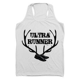 Women's Customized Performance Singlet Ultra Runner (Antlers) (White Singlet)