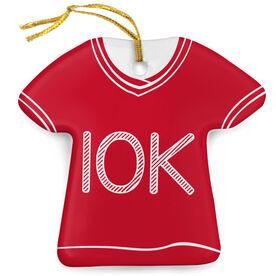 Running Porcelain Ornament 10K Shirt