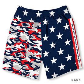 Guys Running Shorts - Run Free (Red White Blue)