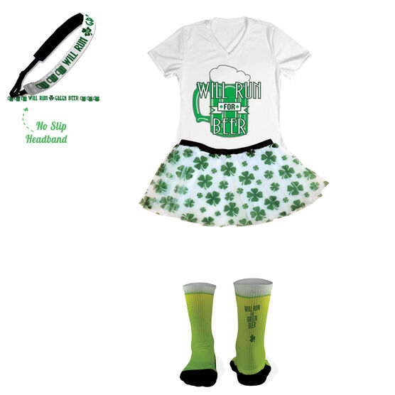 Will Run For Green Beer Running Outfit
