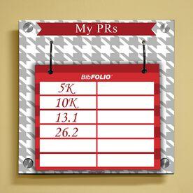 Dry Erase My PRs Houndstooth Wall BibFOLIO® Display