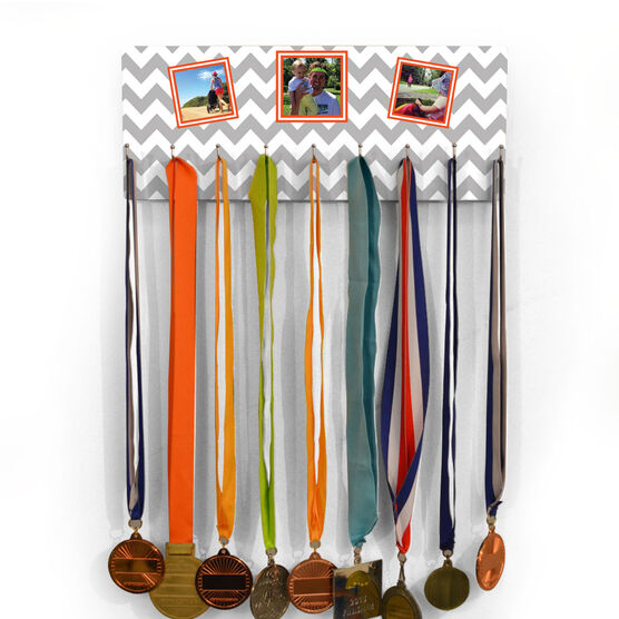 Running Hooked On Medals Hanger Your Three Photos with Pattern